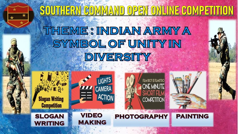 Indian Army's Southern Command Initiates Flagship Online Competition to Nurture Creative Talent across the Nation