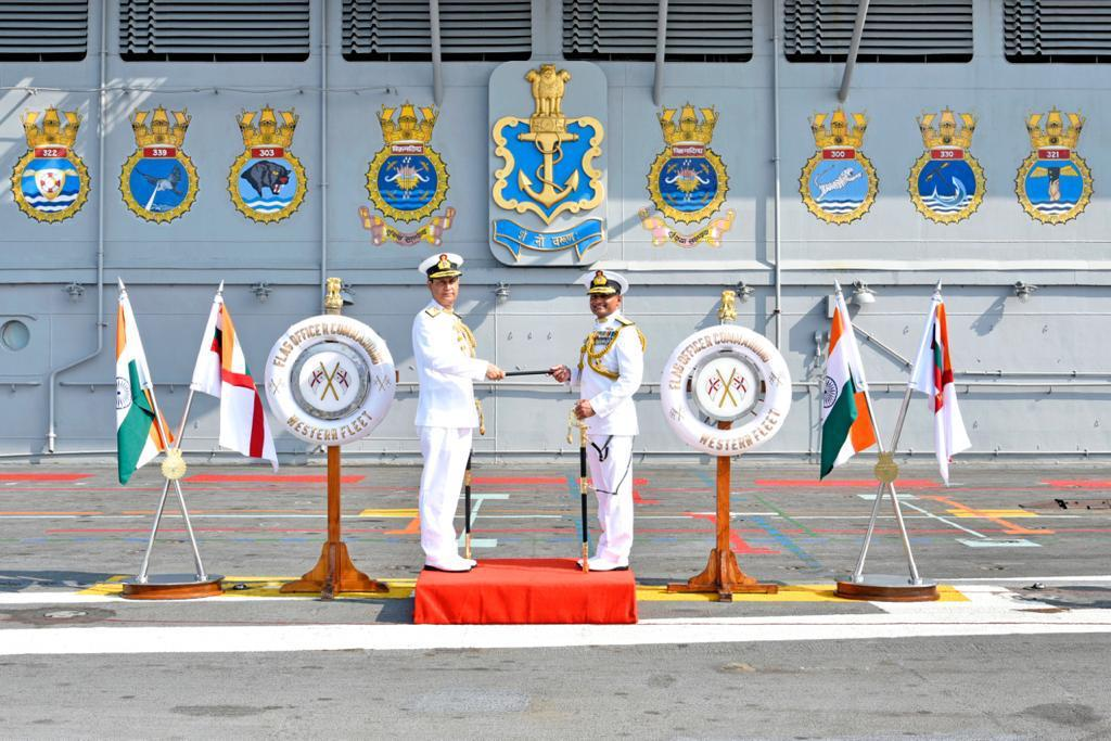 RAdm Ajay Kochhar Assumes Command of the Western Fleet